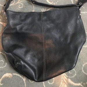 Tignanello Black leather hobo purse